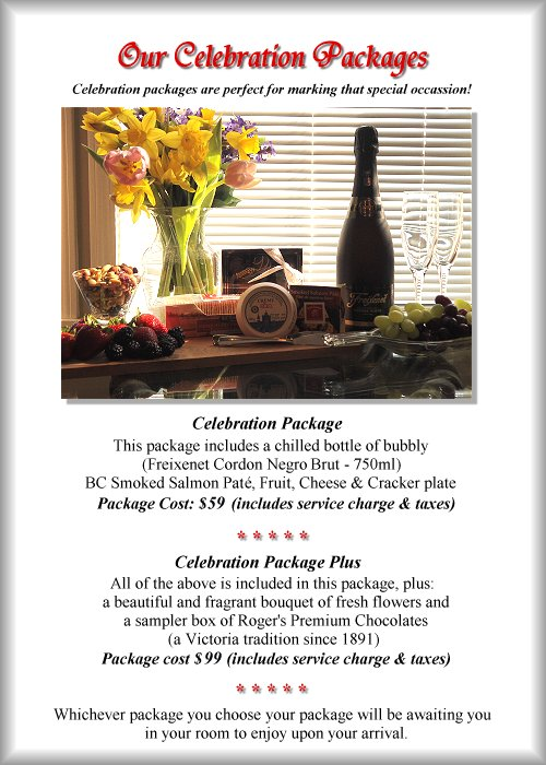Our Celebration Packages